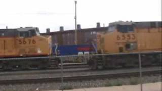 Union Pacific Railroad - Stack Trains in Cheyenne, Wyoming