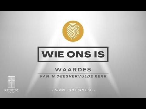 2021.09.05 - Wie Ons Is: Waarde #3 Gemeenskap/Funksie - Wynand Pretorius