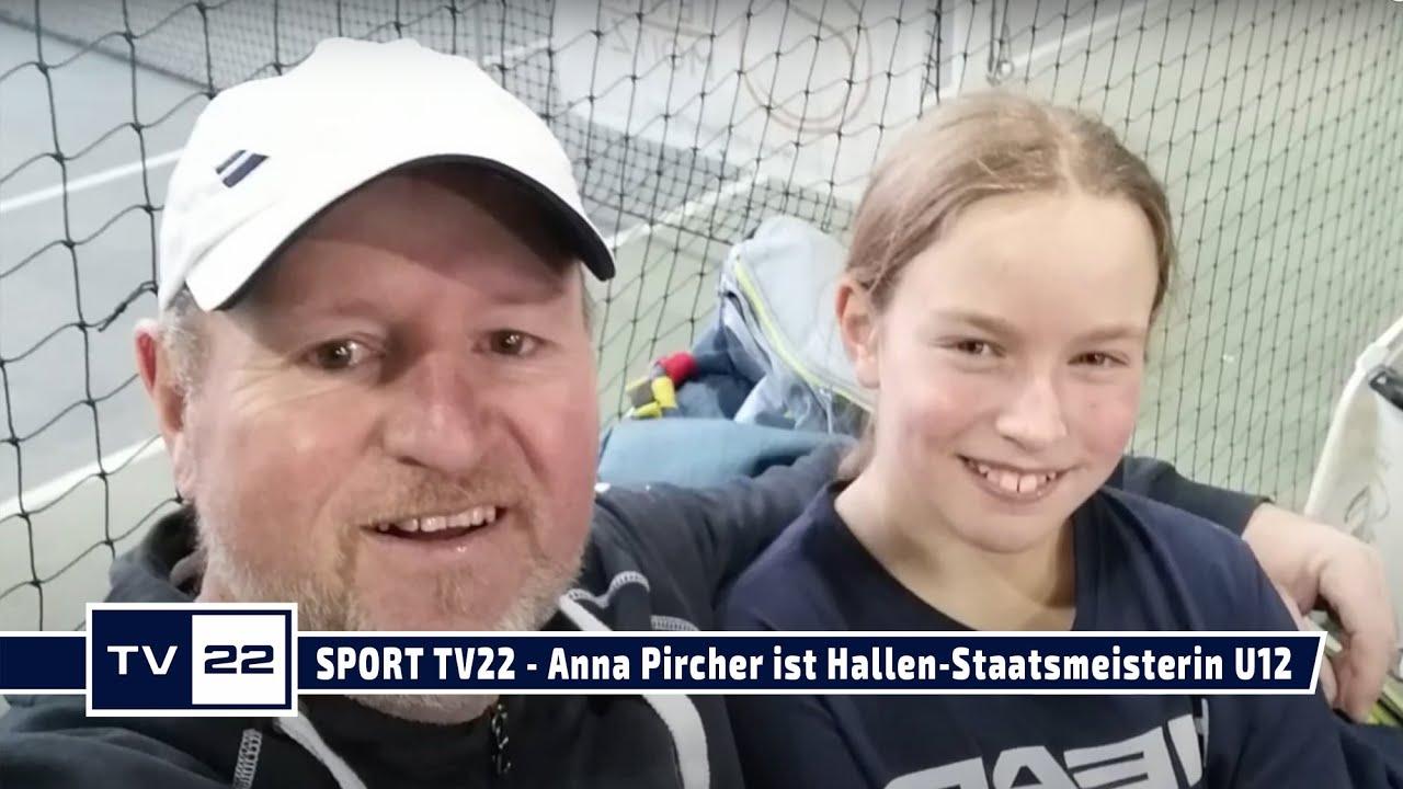 SPORT TV22: Anna Pircher ist Hallen-Staatsmeisterin und Hallen-Doppel-Staatsmeisterin U12 2021
