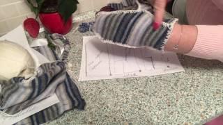 Варежки из испорченного свитера