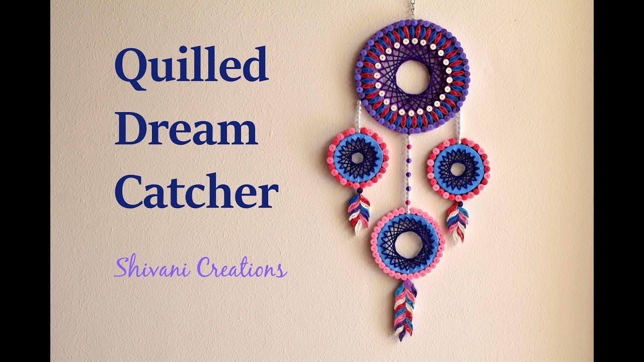 Quilled dream catcher diy dream catcher youtube for How do u make a dreamcatcher