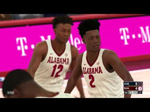 NBA 2K18 College Auburn Tigers vs Alabama Crimson Tide