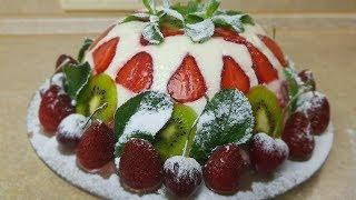 Торт ФРЕЗЬЕ без ВЫПЕЧКИ, цыганка готовит. Gipsy cuisine.