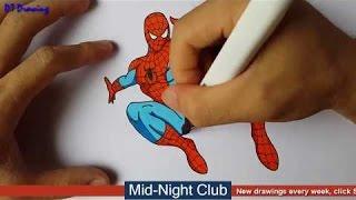 衝撃 - バイン - 描画スパイダーマン漫画3dミッドナイトクラブ