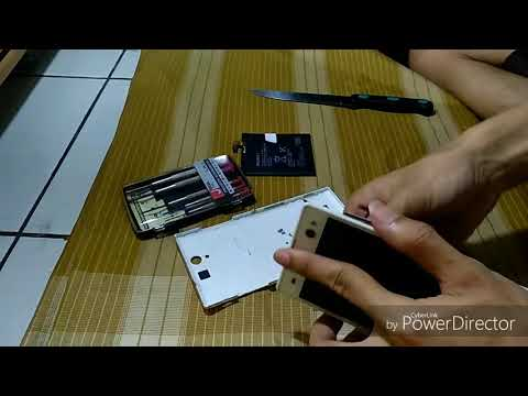 Cara mengganti baterai tanam (how to replace) sony xperia C3