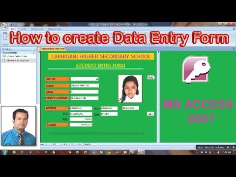 How to create a Data Entry Form in MS Access 2007  Step wise | Part-2| Hindi