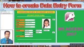 Wie erstellen Sie ein Formular zur Dateneingabe in MS Access 2007 Step wise | Teil-2| Hindi