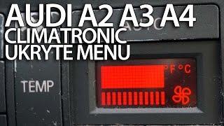 ukryte menu serwisowe audi climatronic a2 a3 8l a4 b5 diagnostyka dtc sam naprawiam