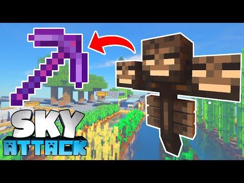 Netherite OP Spitzhacke! 3 Wither Kills & mehr Ancient Debris! - Minecraft SKY ATTACK #16