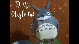 DIY - Hazlo tú, Totoro de papel... papertoy / papercraft...