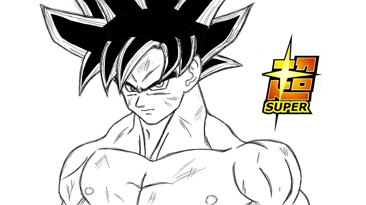 Comment dessiner goku limit breaker dragon ball super youtube - Dessin sangoku ...