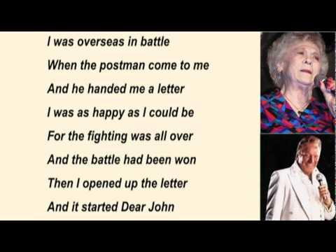 Jean Shepard & Ferlin Husky - Dear John with Lyrics