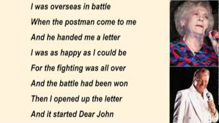 Jean Shepard & Ferlin Husky - Dear John with Lyrics