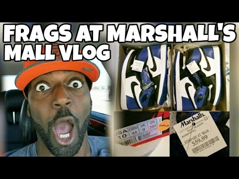 JORDAN 1 FRAGMENT AT MARSHALL'S FOR $60 MALL VLOG HUNT | I FOUND SOME NICE SHOES ON SALE THO