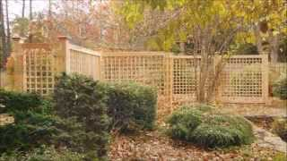 Fence Company In Beverly Ma Installs Austin Lattice Cedar Fence