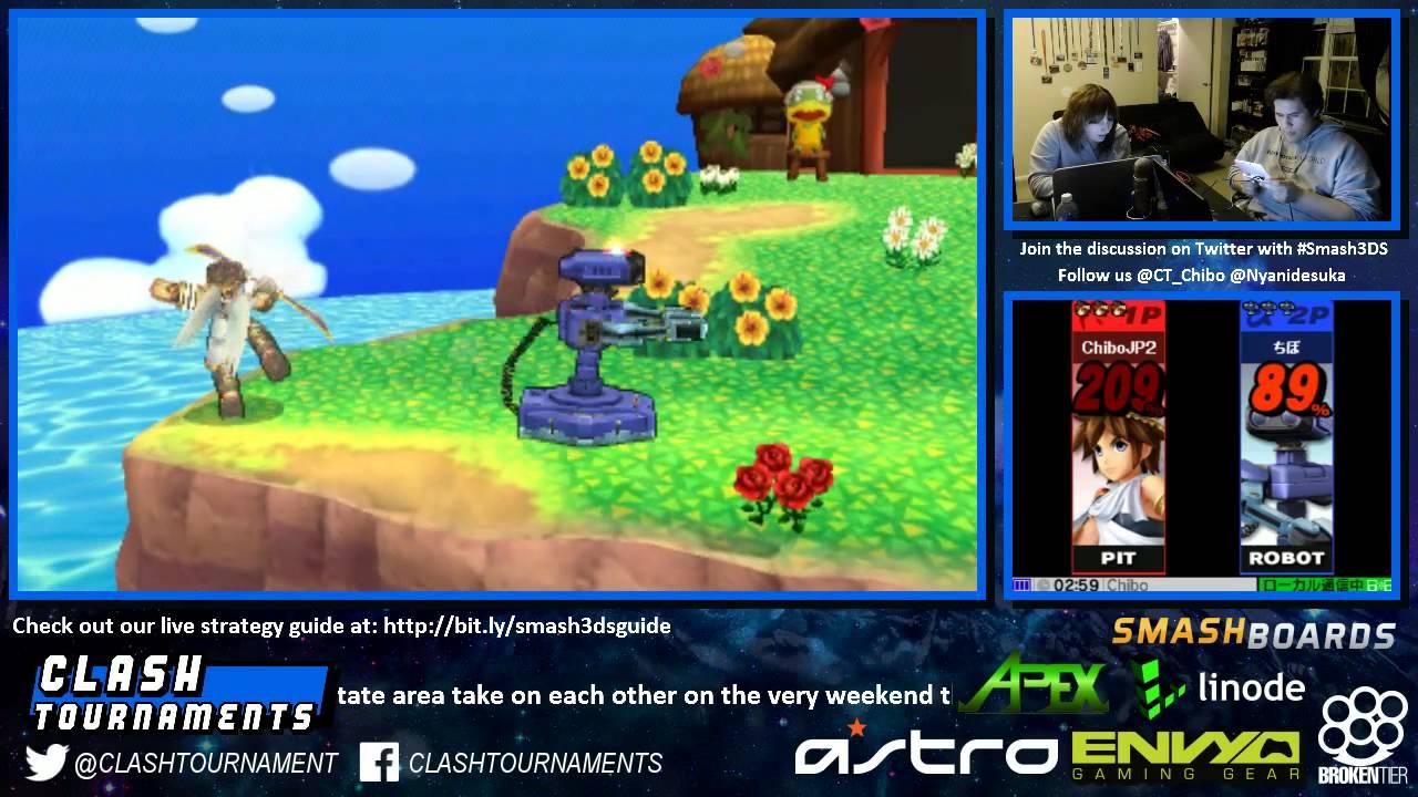 Smash 3DS CT Chibo ROB Vs Nyani Pit 02 YouTube