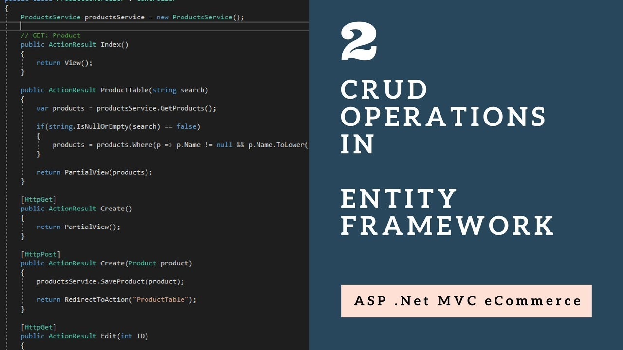 CRUD Operations in Entity Framework with ASP .Net MVC - Session 2