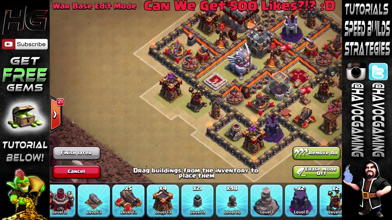 "Clash Of Clans   ""NEW"" BEST TH11 TOWN HALL 11 WAR BASE   w EAGLE ARTILLERY & GRAND"