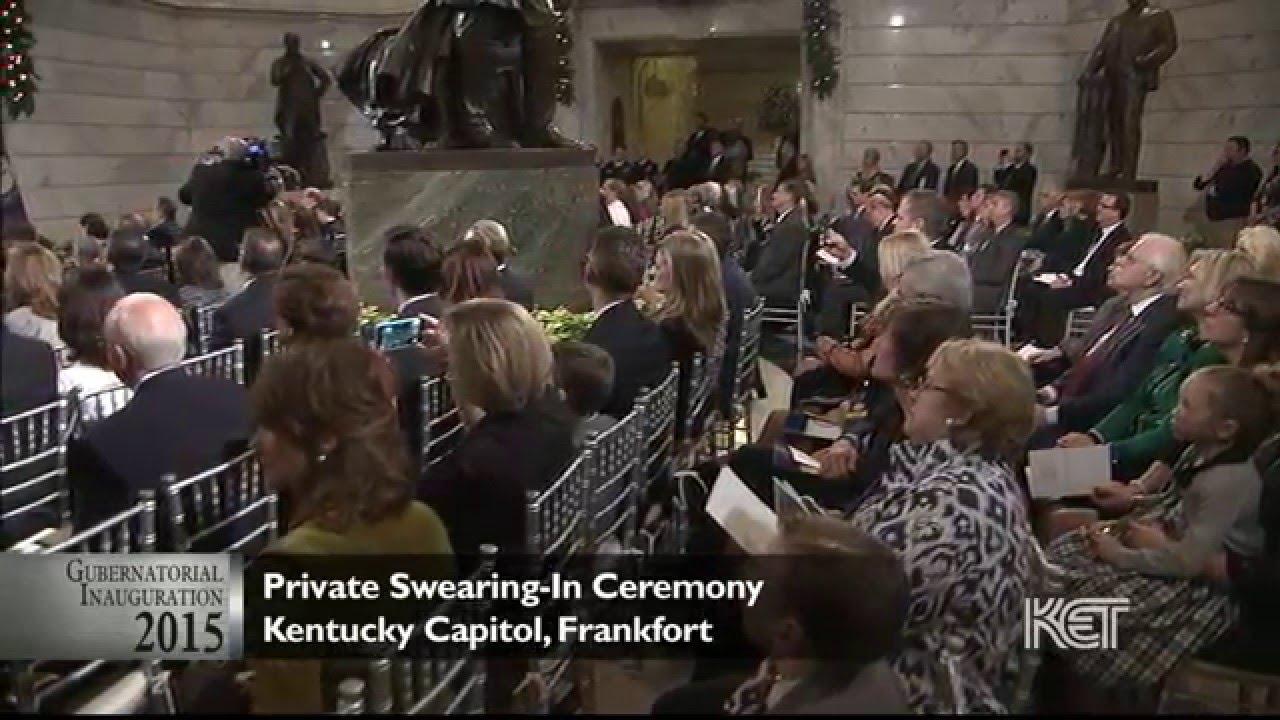 Private Ceremony Reception Later: Private Swearing-In Ceremony