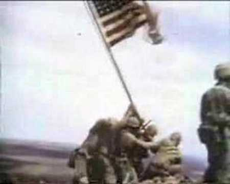 Iwo Jima flag raising. Flags of our fathers.