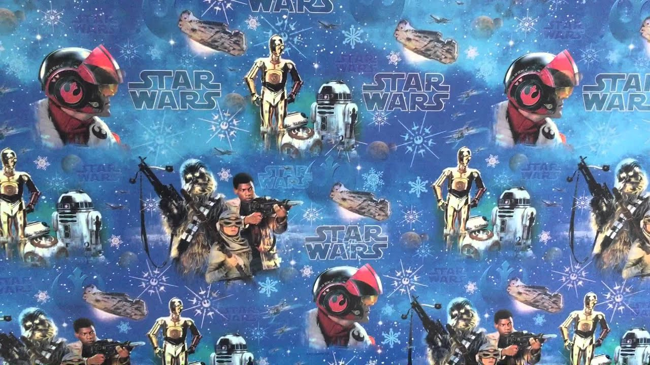 STAR WARS THE FORCE AWAKENS CHRISTMAS WRAPPING PAPER - HALLMARK UK ...