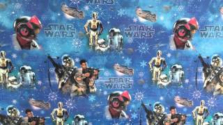 STAR WARS THE FORCE AWAKENS CHRISTMAS WRAPPING PAPER - HALLMARK UK