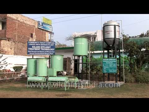 Sewage treatment linked with biogas plant, Sulabh International Museum - Delhi