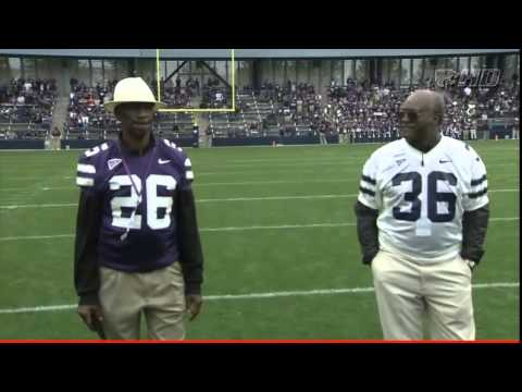 K-State Spring Game 2015: Wildcat greats, FB Larry Brown(67-68) & DB Clarence Scott(68-70)