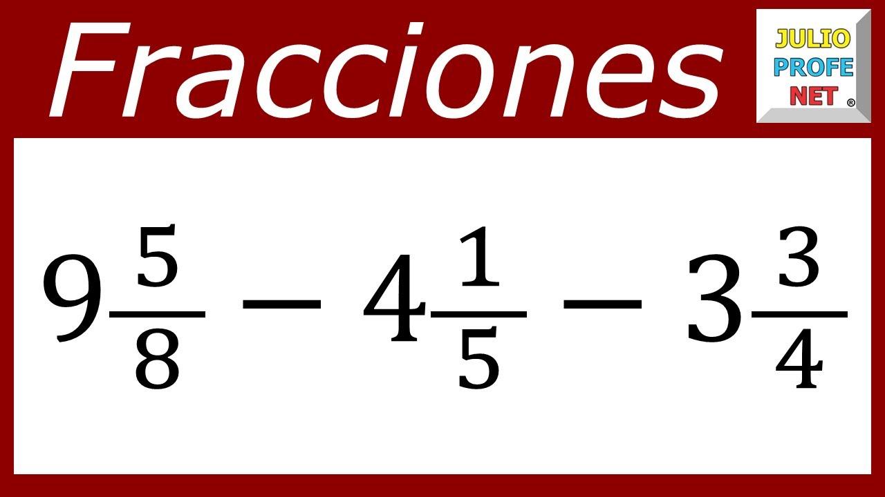 fracciones algebraicas suma y resta: