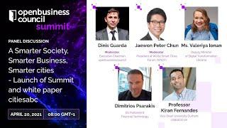 openbusinesscouncil summit \u0026 awards Opening Panel: Smarter Society, Smarter Business, Smarter cities