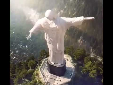 Christ the redeemer statue has dabbed.