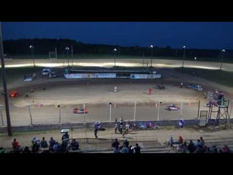 Mini Wedge Feature #2 at Crystal Motor Speedway, Michigan on 07-22-2017