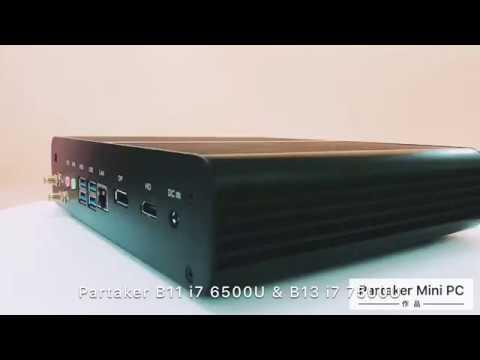 Смотреть фото Partaker Fanless Mini Computer i7 8550U/7560U i5 8250U/7260U 2*DDR4 Msata+M.2 SSD Micro PC Win10 новости Россия