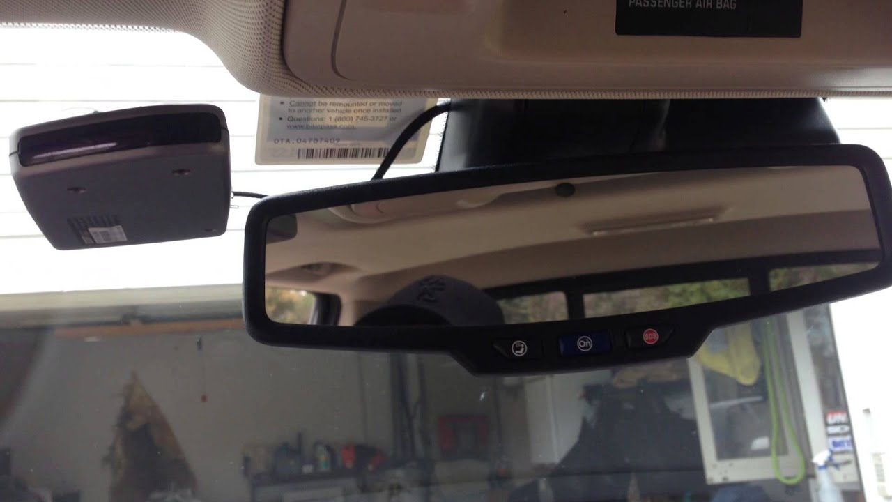How to wire in your radar detector to the mirror on a 2015 Sierra  YouTube