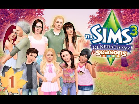 Let's Play The Sims 3: Generations & Seasons (Part 1) - Introducing the Logan Family!