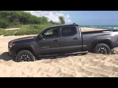 2016 Tacoma crawl control in soft Hawaii sand.