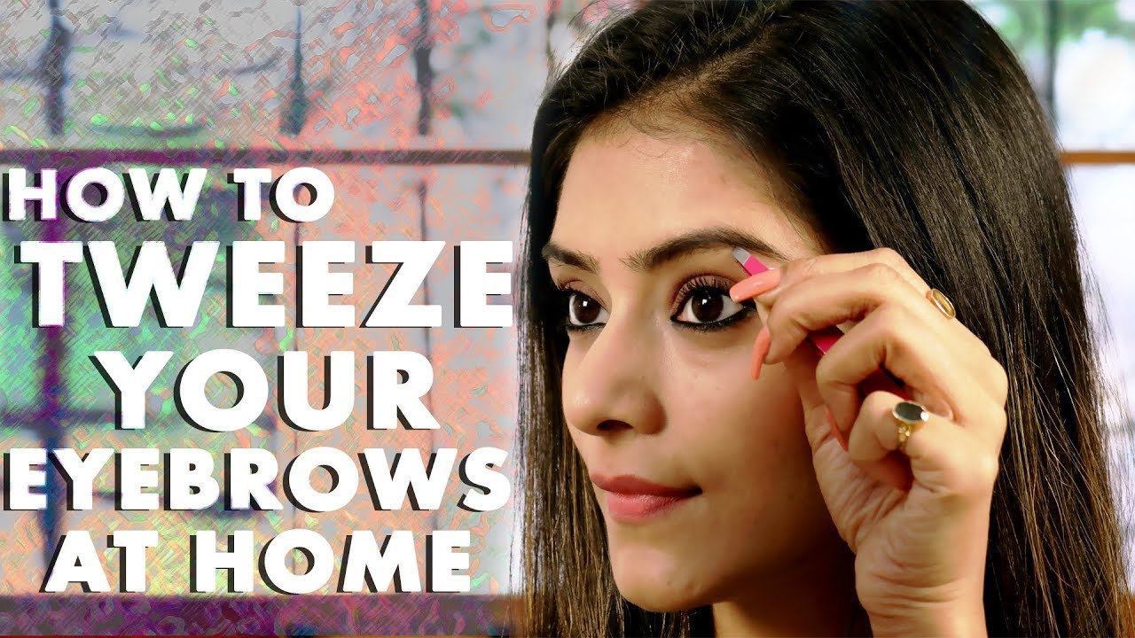 how to fix your eyebrows at home