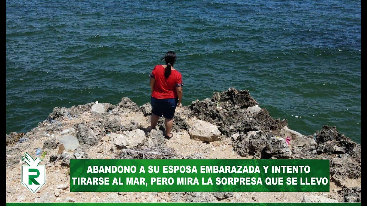 Abandonó a su esposa embarazada y ella intento tirarse del mar, pero mira la sorpresa que se llevó
