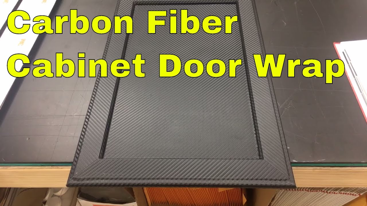 & Carbon Fiber Cabinet Door Wrap - YouTube