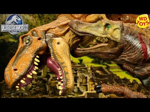 Thumbnail: New Animatronic Spinosaurus Vs T-Rex - Jurassic Park World Unboxing Review
