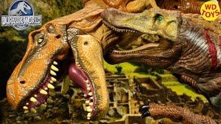 Новий Аниматроник Спинозавр Проти Тиранозавр - Парк Юрського Періоду Всесвітньої Розпакування Огляд