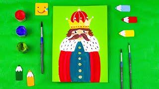 Как нарисовать короля/ Рисуем короля поэтапно/ Рисуем героев сказок/ Уроки рисования для детей