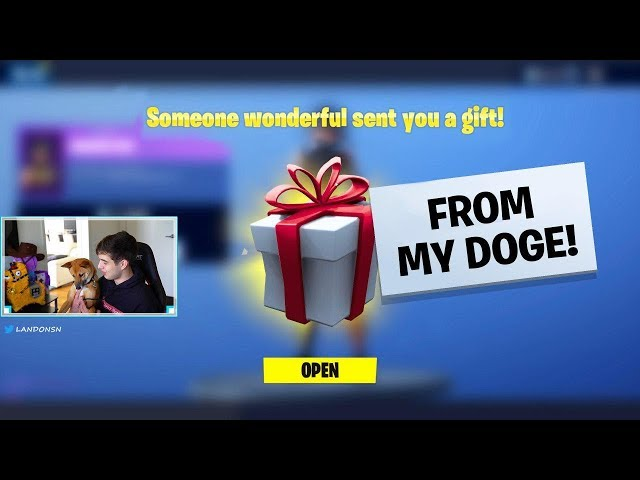 GIFTING Fortnite Skins FROM MY DOG..