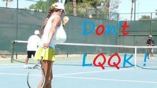 tennis minka hot yellow skirt up close
