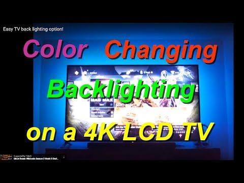 Easy TV back lighting option!
