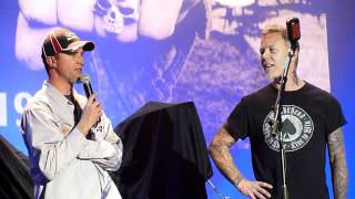 """James Hetfield and Jim """"Fatso"""" Martin About Cliff Burton (Live in San Francisco, December 9th, 2011)"""
