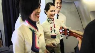 PAL Flight Attendants serenading Bruno Mars at 30,000 feet ( High Quality)
