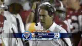 2008 Alabama Crimson Tide vs LSU Tigers