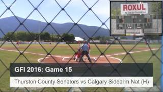 GFI 2016 - Game 15 - Thurston County Senators vs Calgary Sidearm Nation