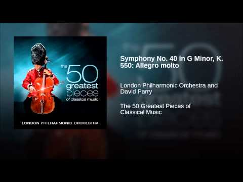 Symphony No 40 in G Minor, K 550: Allegro molto